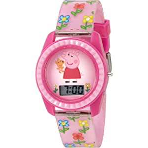 Peppa Pig Girls Quartz Plastic Watch, Color:Pink (Model: PPG4005)