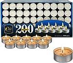 Ohr Tea Light Candles - 200 Bulk Pack - White Unscented