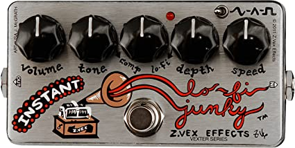 ZVEX Instant Lo-Fi Vexter Junky Modulation Chorus Vibrato Guitar Effects Pedal