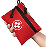 First Aid Kit Pouch (64-Piece): Pocket Sized, Lightweight & Compact with Dual Zippers for Organization