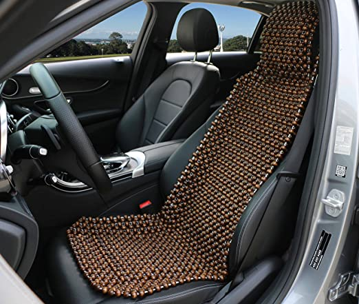 Heim Stuhl Langlebig Opfury Holz Sitzbezug Perlen Auto Sitzkissen Naturholz Premium Pl/üsch Samt Sitzbezug Bequem Cool Sommer Massage Sitz Sitz f/ür B/üro