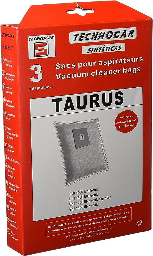 Tecnhogar 912517 Bolsa aspirador, Blanco: Amazon.es: Hogar