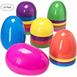 Jumbo 7 Inch Assorted Colors Easter Eggs -12pk.
