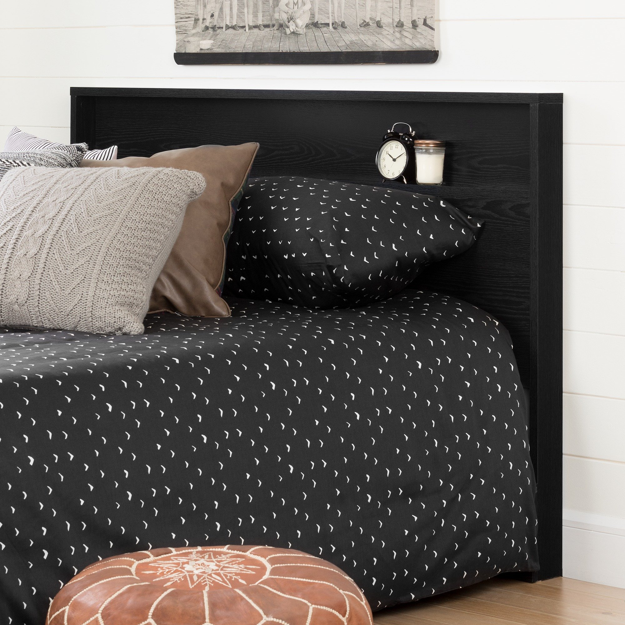 South Shore 11290 Holland Headboard (54/60''), Full/Queen, Black Oak by South Shore (Image #2)