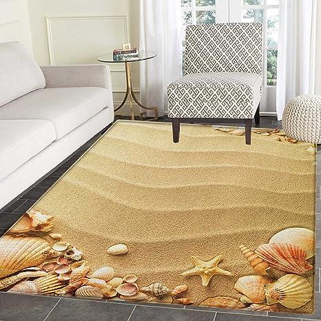 Amazon Com Beach Print Area Rug Nautical Composition With Sandy