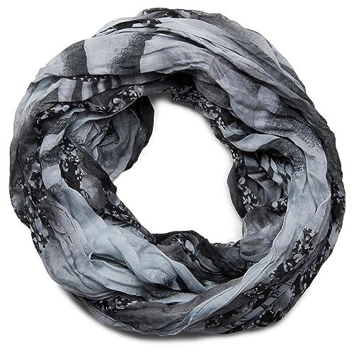 styleBREAKER sciarpa scaldacollo con motivo marino di conchiglie, effetto stropicciato, sciarpa, fou...