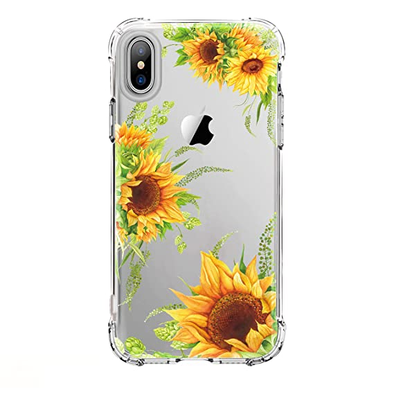 new concept cf12a 44337 LUOLNH iPhone X Case,iPhone Xs Case with Flowers, Slim Shockproof Clear  Floral Pattern Soft Flexible TPU Back Cover case for iPhone X/iPhone Xs 5.8  ...