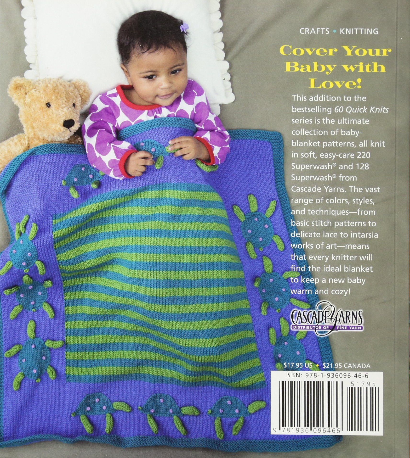 60 Quick Baby Blankets Cute Cuddly Knits In 220 Superwash And