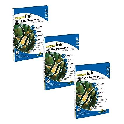 superInk - Kit 3 cajas (20 hojas por resma) de Papel ...