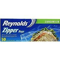 Reynolds Sandwich Zipper Bags, 50 Count, 16.5CM X 14.9CM
