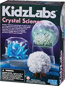 4M Kidzlabs Crystal Science Kit - DIY STEM Toys Lab Experiment, Educational Gift for Kids & Teens