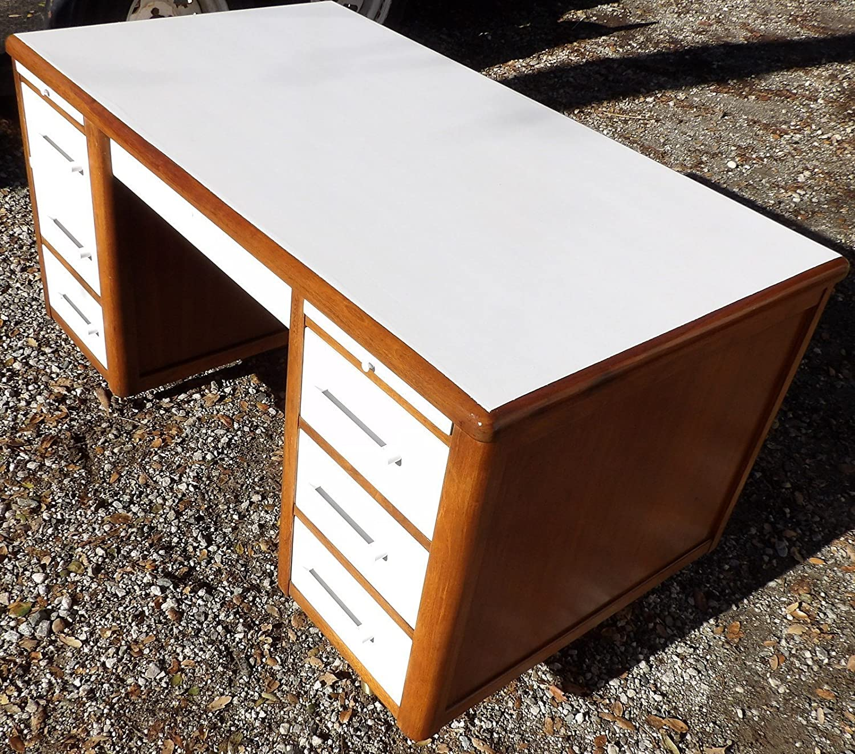 Amazon White fice Desk Mid Century MOD Lawyers Jasper Handmade