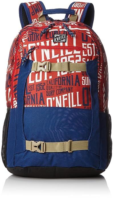 ONeill - Bm Boarder Backpack, Mochilas Hombre, Rot (Red Aop W