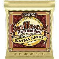 Ernie Ball Earthwood Extra Light Cuerdas de guitarra acústica de bronce 80/20 - 10-50 Gauge