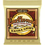 Ernie Ball Earthwood Extra Light 80/20 Bronze Acoustic Set, .010 - .050