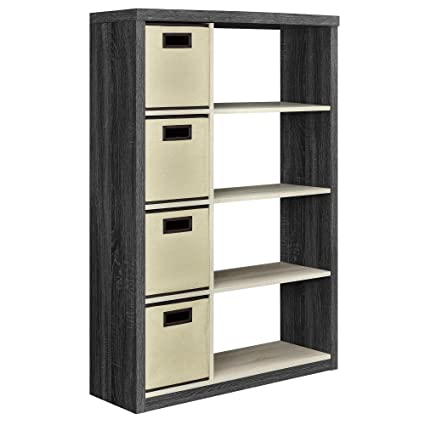 Ameriwood Home Winlen Bookcase With 4 Bins Espresso