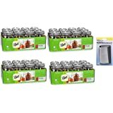 Ball Regular Mouth 12 Pieces 1-Pint Glass Canning Jars (Pack of 4) + FREE Microfiber Cleaning Cloth