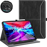 ZtotopCase for New iPad Pro 12.9 Inch 4th Generation 2020, Premium PU Leather Slim Folding Stand Cover with Auto Wake…