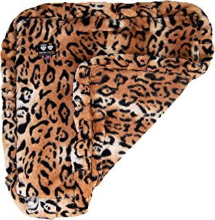 product image for Bessie and Barnie Chepard Luxury Ultra Plush Faux Fur Pet, Dog, Cat, Puppy Super Soft Reversible Blanket (Multiple Sizes)