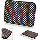 32nd High Quality Cushioned Laptop Sleeve, Universal Carrying Case Bag for 13-13.3 Inch Laptop / Macbook Air/ Chromebook /Computers/ Notebook / Tablets- Dotty
