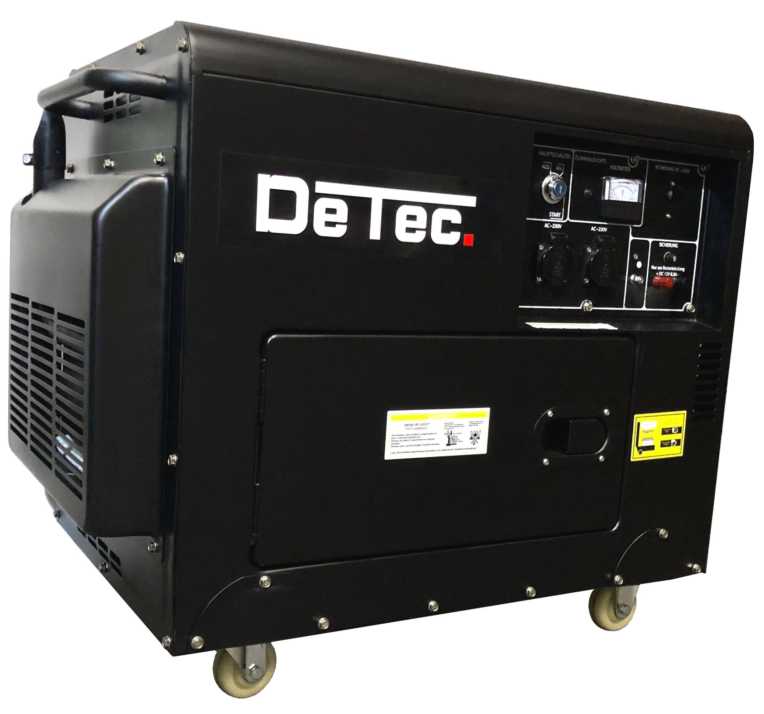 Stromerzeuger 230V 5kW Stromaggregat mit E-Start Dieselgenerator 1-Phasen DeTec