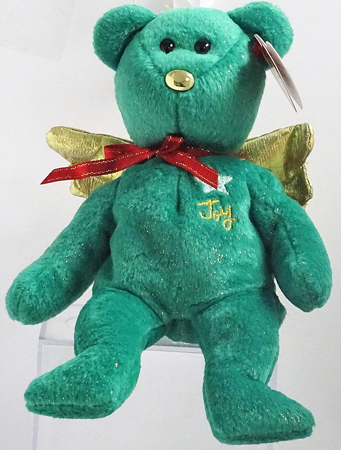 Amazon.com  TY Beanie Baby - GIFT the Bear (Green Version) (Hallmark Gold  Crown Exclusive)  Toys   Games fe7acf039d9