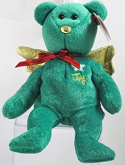 51f7970d56f Amazon.com  TY Beanie Baby - GIFT the Bear (Green Version) (Hallmark ...