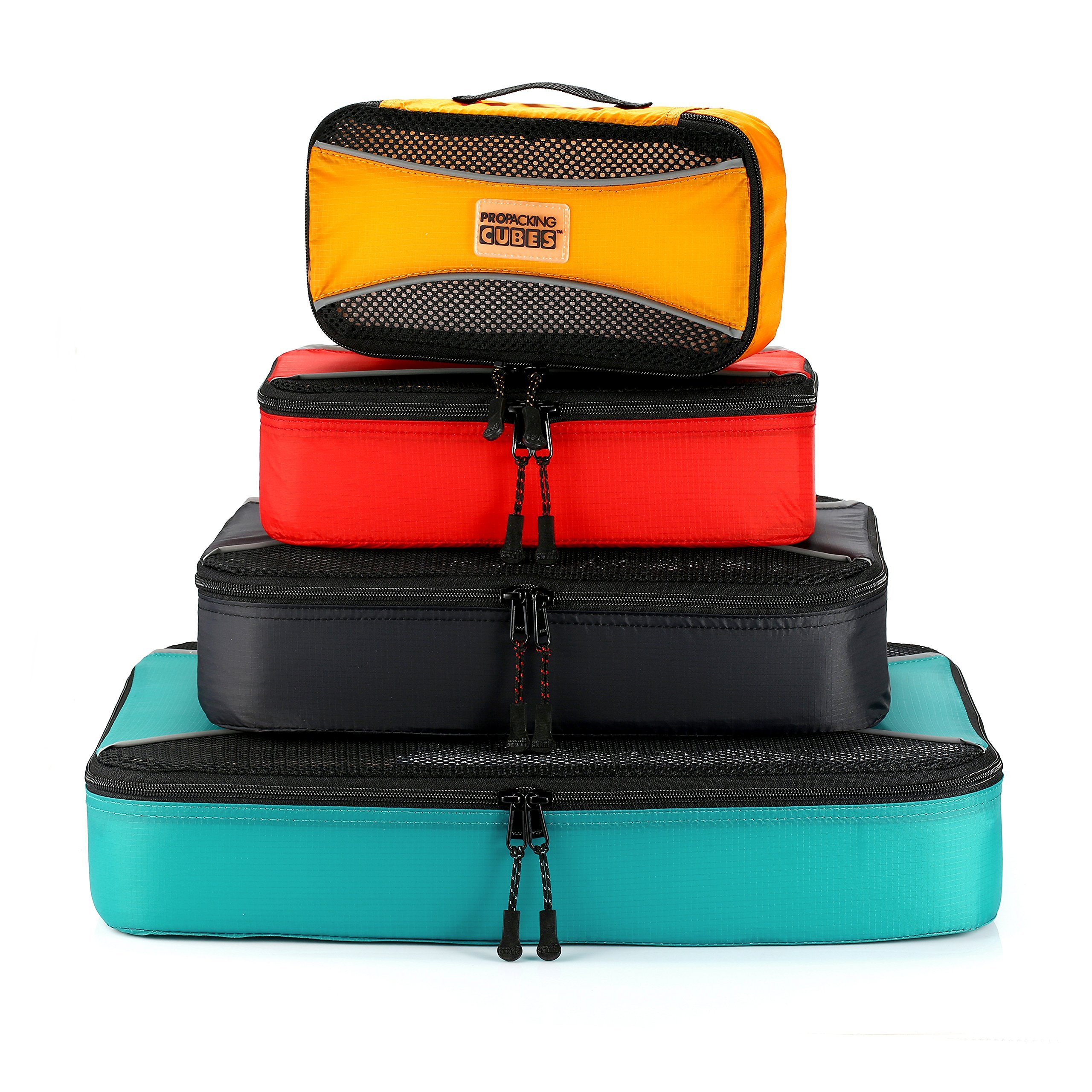 PRO Packing Cubes  Lightweight Travel - Packing for Carry-on Luggage, Suitcase and Backpacking Accessories Set, Mixed Colors - 4 Piece by Pro Packing Cubes (Image #3)