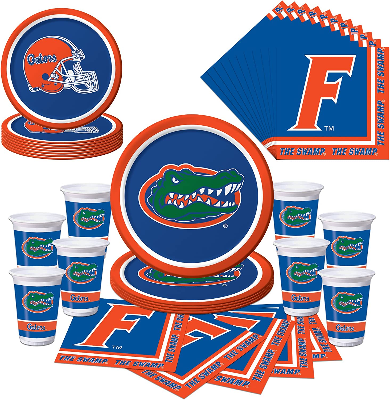 Florida Gators Party Bundle - Plates, Cups, Napkins