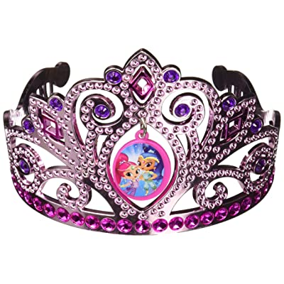 "amscan Shimmer and Shine Birthday, Electroplated Tiara, 3.5"" x 4.5""RTY Accessory, Multicolor: Toys & Games"