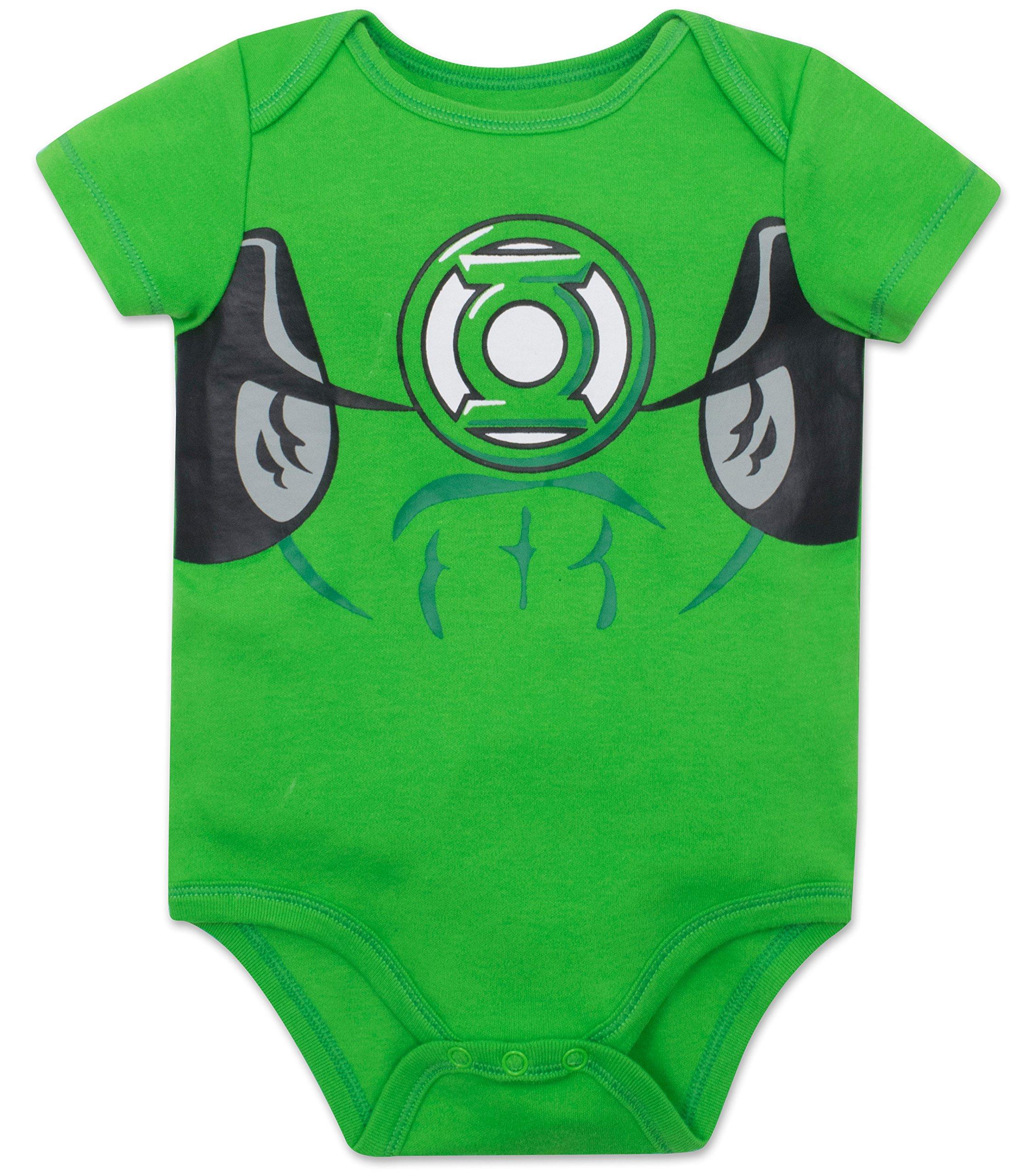 Justice League Baby Boys' 5 Pack Superhero Onesies - Batman, Superman, The Flash and Green Lantern (6-9M) by Warner Bros. (Image #2)