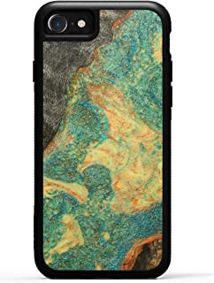 product image for Carved - Wood+Resin Case for iPhone 8 / iPhone 7 / iPhone 6s - One-of-A-Kind, Protective Traveler Bumper Cover (ID: 315652, Teal & Gold)