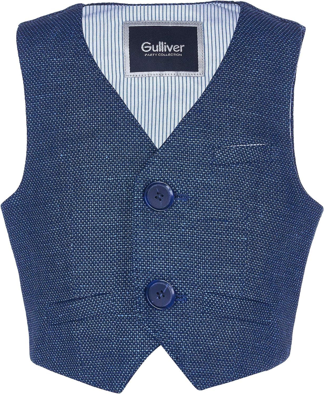 80 86 92 cm 12 24 mesi con bottoni Gilet da interno per bambini GULLIVER stile classico colore: Blu