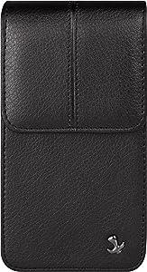 Black Vertical Cell Phone Holster with Belt Clip for BLU Advance L5 L4 A5 A4, Dash L5 L4 L3 L2, C5 C4, Grand Mini, Studio J1