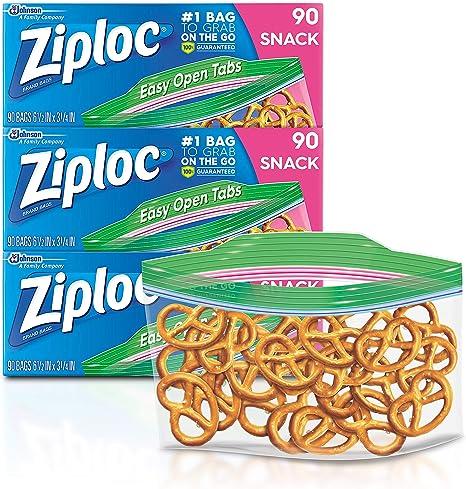Packing Cookies Ziploc Snack Bags 280 ct Fruit Chips /& Vegetables