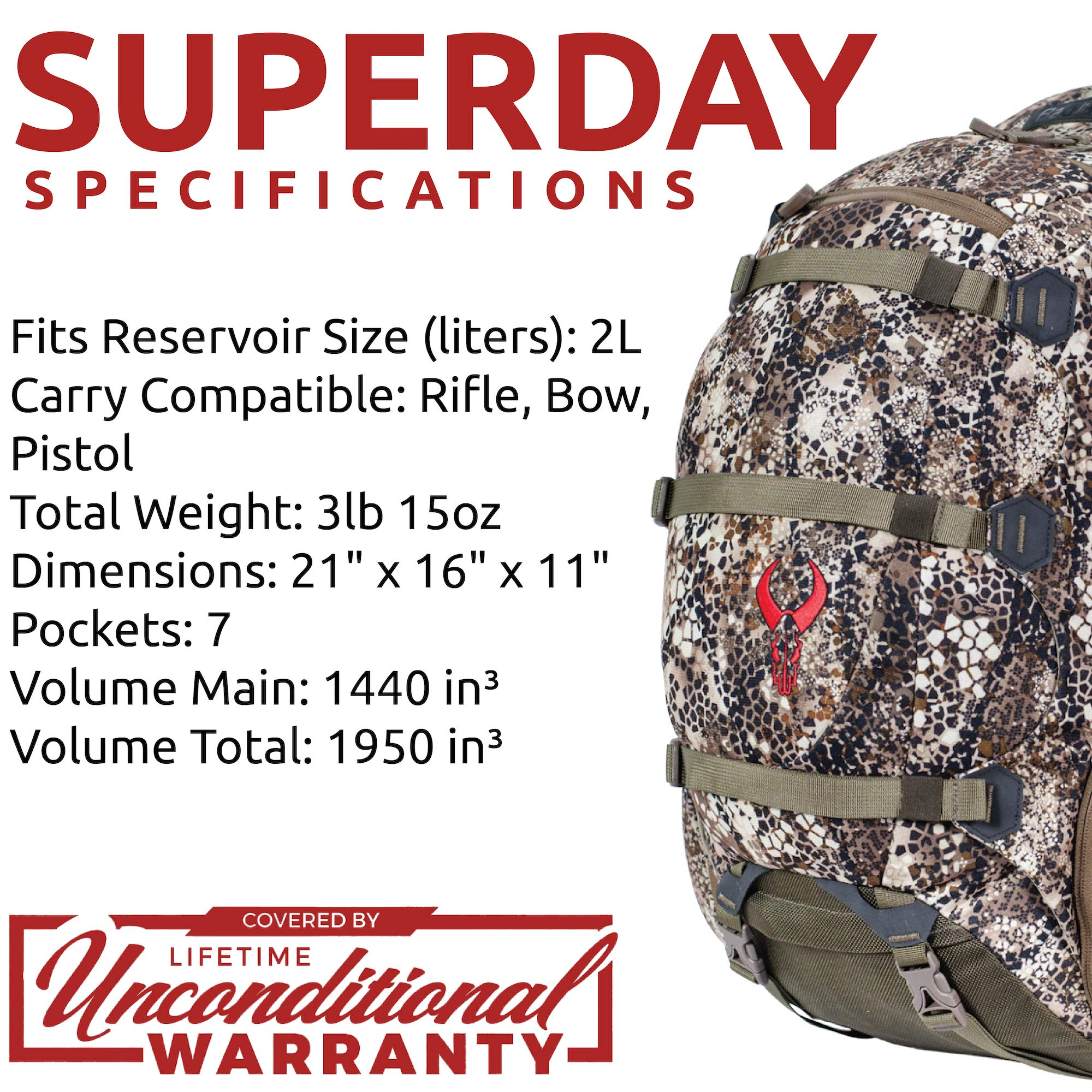 Badlands Superday Camouflage Hunting Backpack - Bow, Rifle, and Pistol Compatible, Approach FX by Badlands (Image #6)