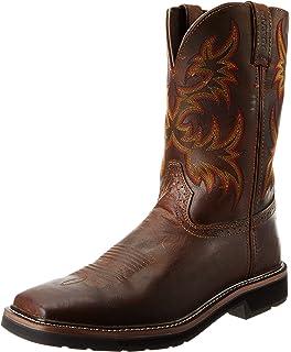 Amazon.com | Justin Original Work Boots Men's Stampede Boot ...