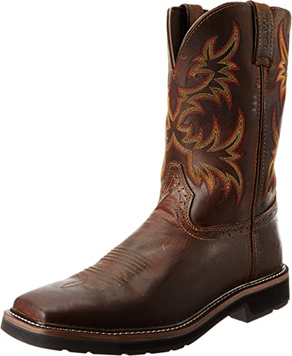 Stampede Pull-On Square Toe Work Boot