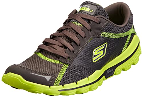 Skechers Performance Go Run 2 - Zapatillas de Deportes de Exterior de tela hombre, gris - Gris (Cclm), 8 UK: Amazon.es: Zapatos y complementos