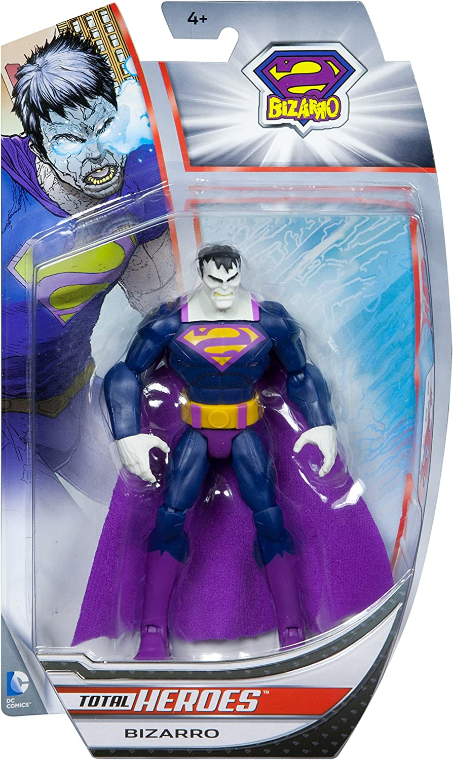 BIZARRO Superman Total Heroes 6 inch action figure Mattel DC Universe
