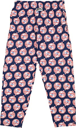 Amazon Com Zubaz Mlb New York Yankees Pantalones Para Hombre Talla Xl Diseno De Logotipo Grande Clothing