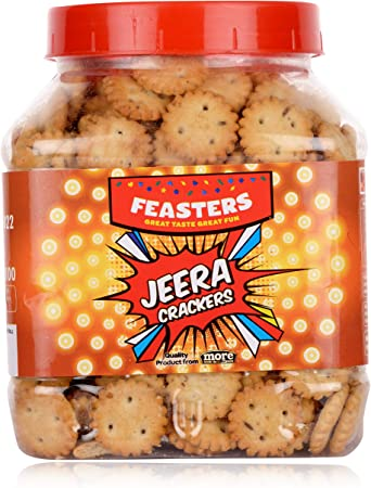 Feasters Jeera Crackers Jar, 250g