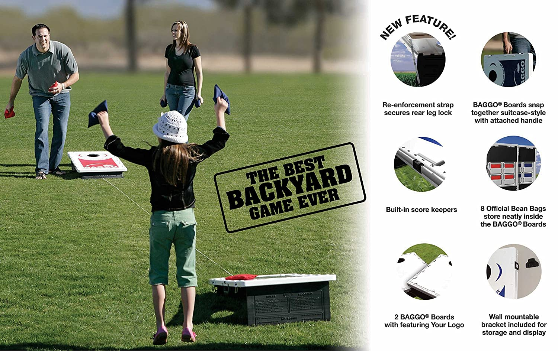 Thin Red Line Baggo Bean Bag Toss Portable Cornhole Game
