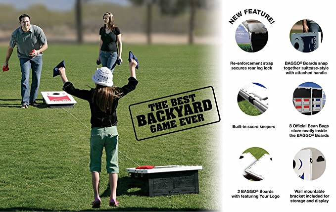 Victory Tailgate Baggo All-Weather Cornhole Boards Set, NCAA Classic with  Matching Corn-Filled Bags