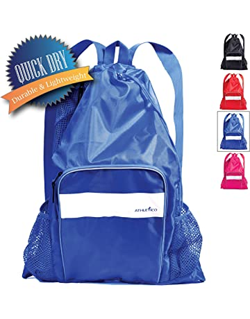 Athletico Mesh Swim Bag - Mesh Pool Bag with Wet   Dry Compartments for  Swimming cbd87346976e3