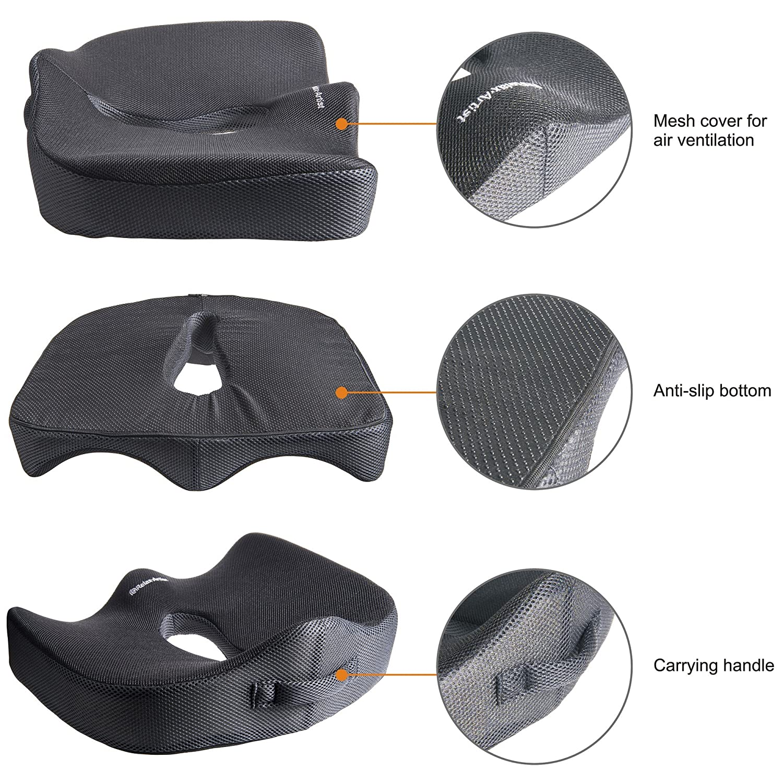 Amazon.com: Espuma de memoria asiento cojín para silla de ...