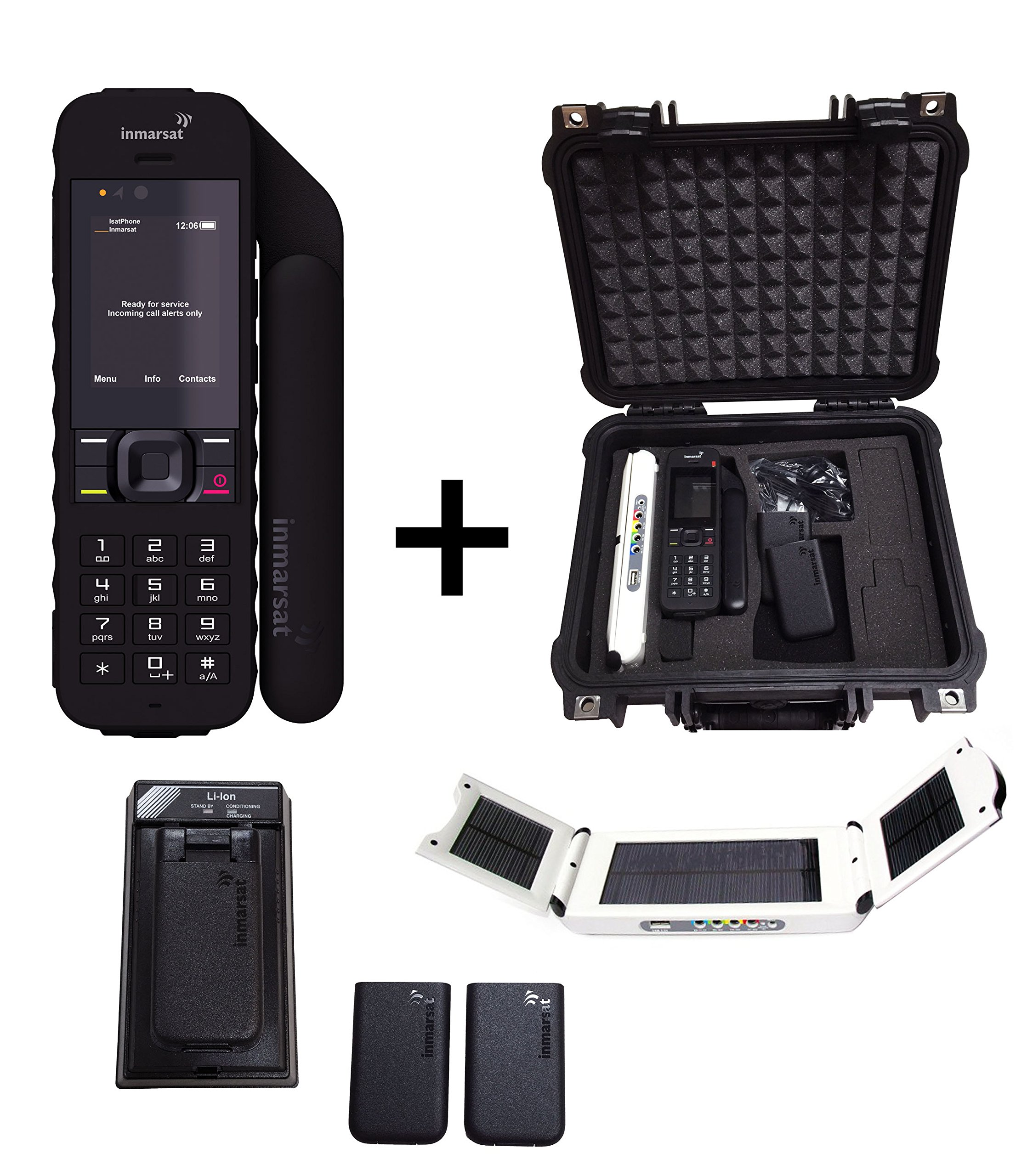 SatPhoneStore Inmarsat IsatPhone 2 Satellite Phone Emergency Responder Package w/ Solar Panel by Inmarsat