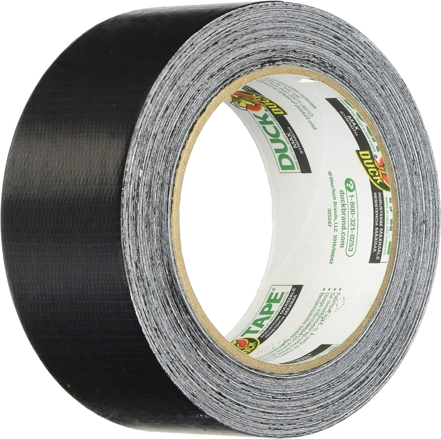 6 Pack Black Duck Brand MAX Strength Duct Tape 1.88 Inches by 30 Yards