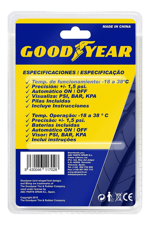Good Year GOD0001 Medidor Corto de Presión De Neumáticos Digital: Amazon.es: Coche y moto