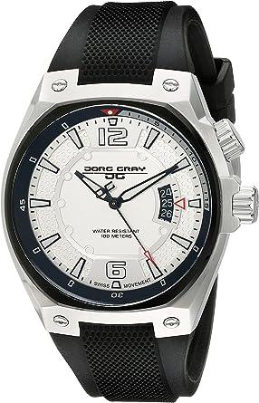 Jorg Gray JG8300-11 - Reloj analógico de Cuarzo para Hombre, Correa de Silicona Color Negro